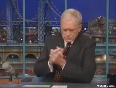 David Letterman confesses to having sexual relationships with staff members on The Late Show October 1 2009