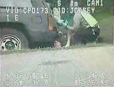 Charleston City Coucilwoman Deborah Morinelli drunk in a ditch during a DUI arrest