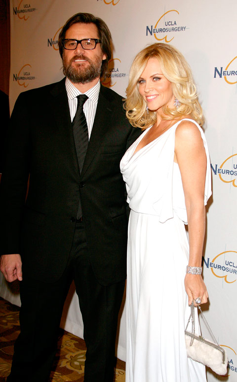Hairy Jim Carrey and girlfriend Jenny McCarthy at the UCLA Department of Neurosurgery's Visionary Ball 2009 held in Beverly Hills, California on October 1st, 2009.