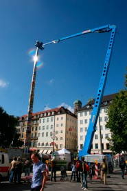 The Guinness Book of World Records' tallest Lego Tower is completed in Munich Germany October 3 2009