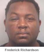 Mug shot of Frederick Richardson the man arrested for voluntary manslaughter in the death of AJ Jewell the former fiance of Kandi Burruss