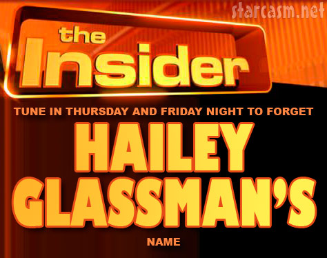 Hailey Glassman on The Insider