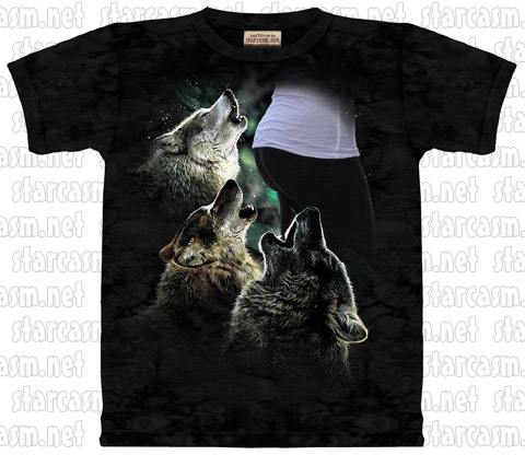 Howling at the moon t-shirts - these are gonna be huge!