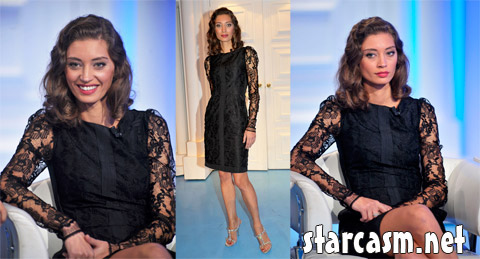 Margareth Made appearing on the Rome television show Porta a Porta to promote Baaria