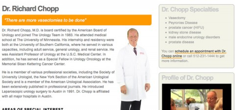 Would you hire Dr. Dick Chop for your vasectomy?