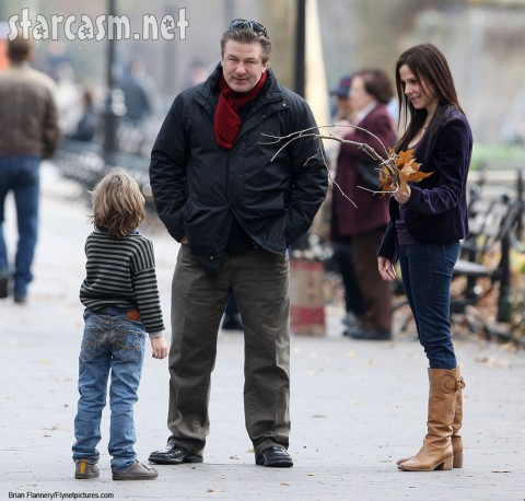 Alec Baldwin, Mary-Louise Parker and her son William Atticus