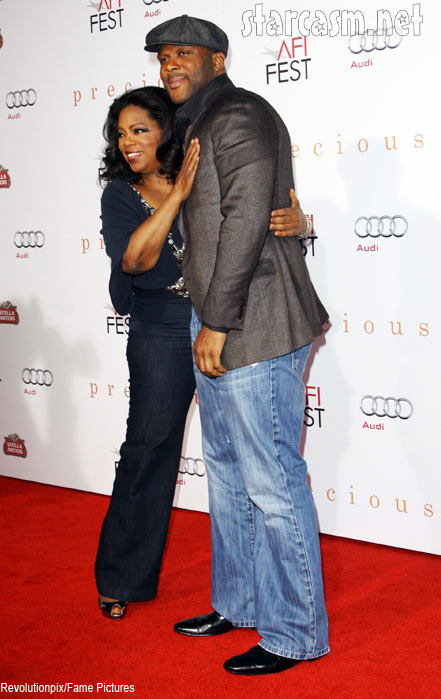 Oprah and Tyler Perry at the precious premiere
