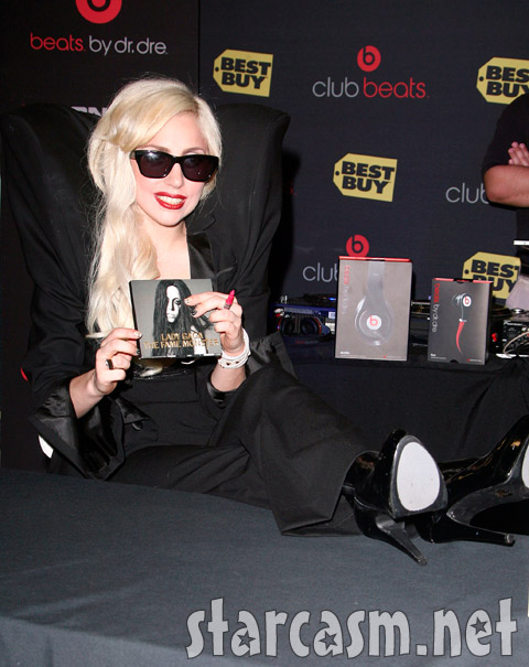 Lady Gaga signs autographs in LA