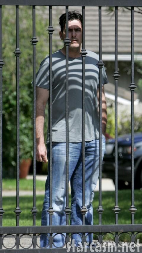 Charlie Sheen behind bars no more