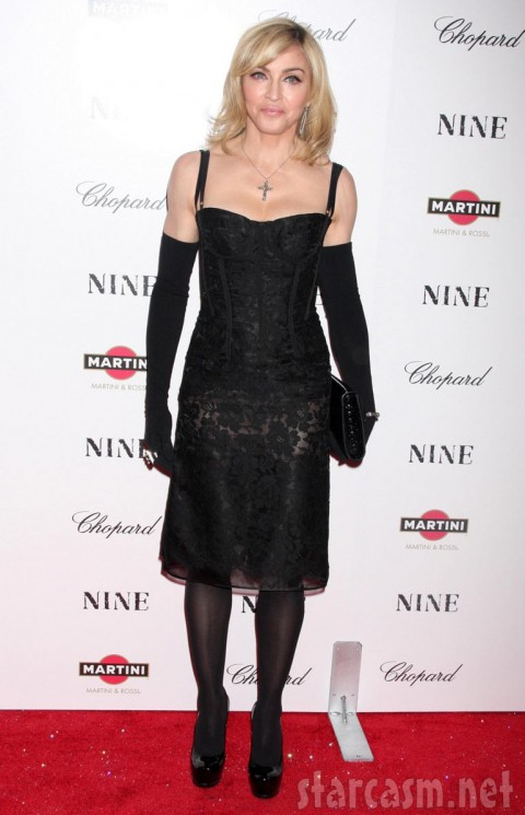 Madonna looking tough and sexy at the New York Premiere of Nine 12-15-09