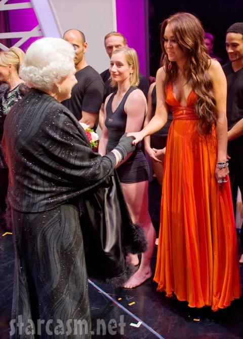 Queen Elizabeth II and Miley Cyrus
