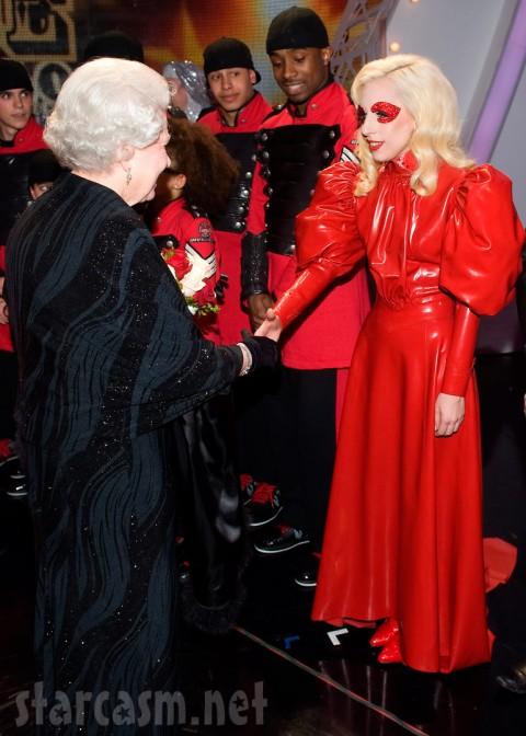 Queen Elizabeth and Lady Gaga