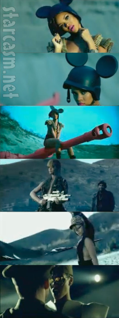 Rihanna goes Mussolini Mickey Mouse in her latest video for Hard