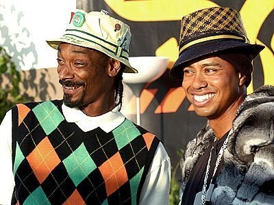 Snoop Dog and Tiger Woods