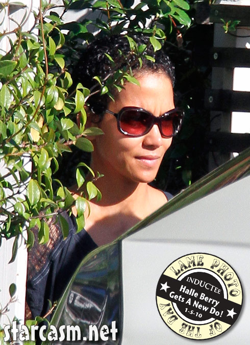 Halle Berry doesn't show off her brand new hairstyle