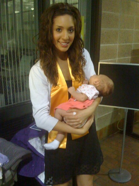 16 and Pregnant's Farrah holds her newborn daughter Sophia