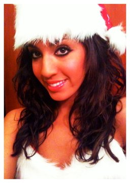 Farrah Abraham from Teen Mom poses for a Christmas photo