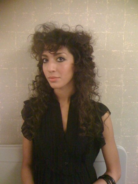 Farrah Abraham of Teen Mom rocks a curly hairstyle