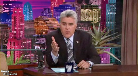 Jay Leno in 2004 announcing Conan O'Brien would be the host of the Tonight Show