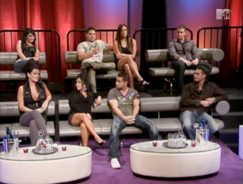 The entire cast on the Jersey Shore Reunion Special