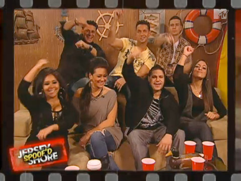 The cast of Jersey Shore Spoof'd