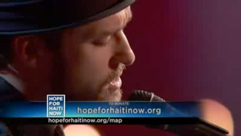 Justin Timberlake sings Leonard Cohen's Hallelujah for the Haiti relief telethon