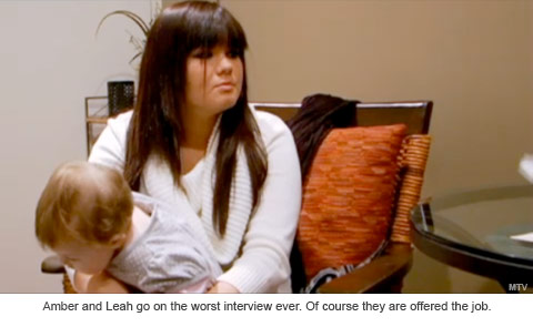 Amber from Teen Mom goes on a job interview with her baby Leah