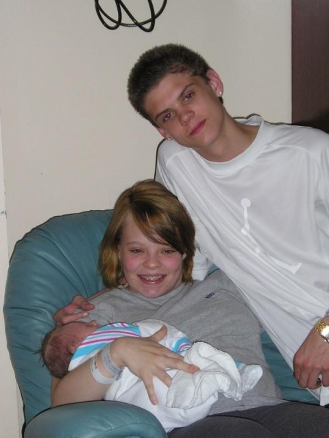 Catelynn Lowell Tyler Baltierra and Carly prior to the filming of Teen Mom