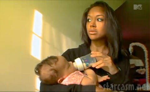 Valerie Fairman and her baby