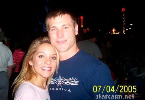 Jake Pavelka hugs girlfriend Christina Haney in 2005