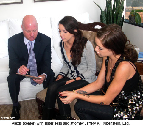 Alexis Neiers Arlington talks with attorney Jeffery K. Rubenstein, Esq.