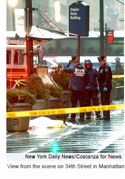 Scene of Cameron Dabaghi's suicide at The Empire State Building