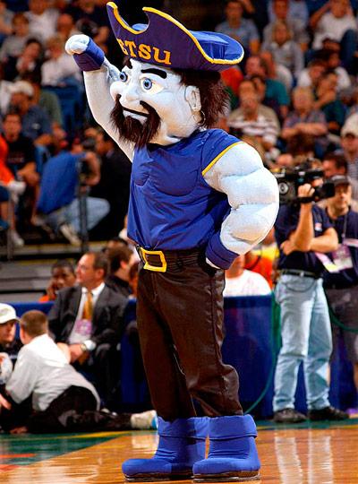 ETSU Buccaneers mascot Bucky