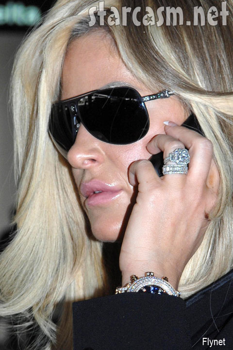 Kim Zolciak Posed For Paparazzi At LAX Airport Tuesday, March 2. While She  Posed, Preened, And Pretended To Be Talking On The Phone She Flashed A  Whopper Of ...