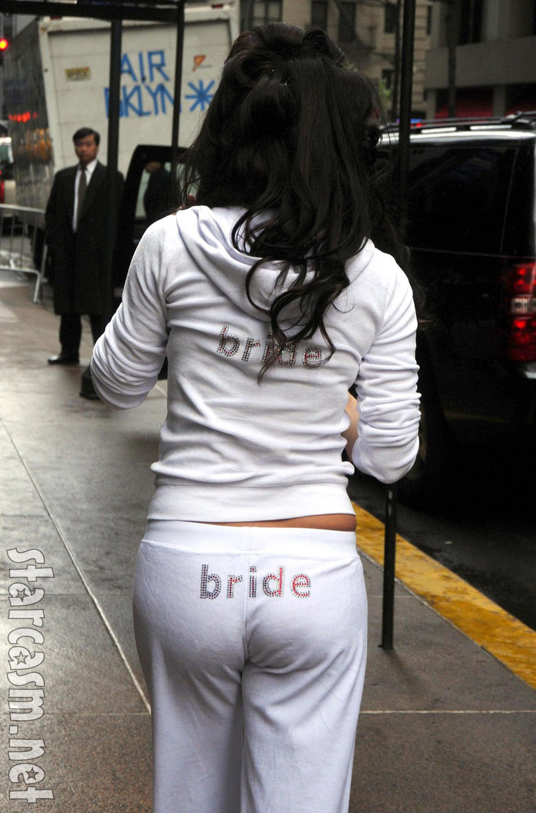 """Bethenny Frankel has """"bride"""" printed across her butt prior to her wedding"""