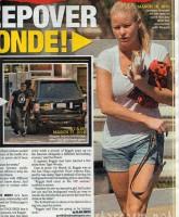 Alleged Reggie Bush mistress January Gessert in The National Enquirer