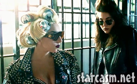Lady Gaga with Diet Coke can curlers from the Telephone music video