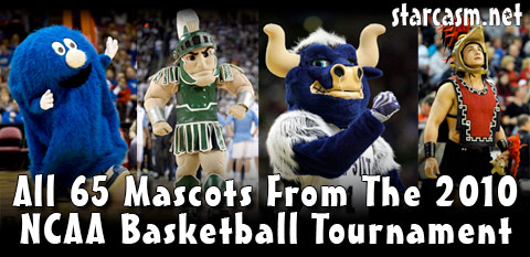 Every school mascot from the 2010 NCAA Mens Basketball Tournament