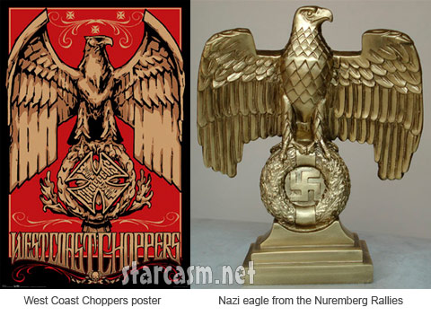 West Coast Choppers poster and Nazi Eagle from the Nuremberg Rallies