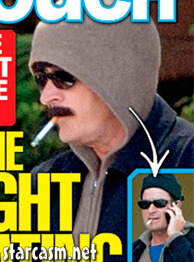 Charlie Sheen disguise from In Touch Weekly cover