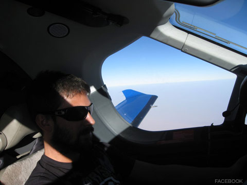 Derek Stansberry flying a PC-12 aircraft from Facebook