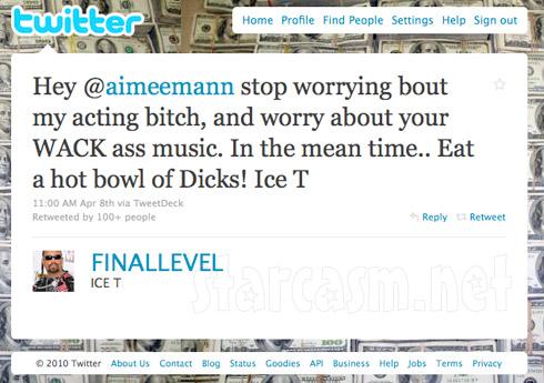 Ice T FINALLEVEL responds to Aimee Man aimeemann