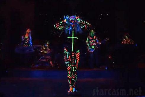 Ke$ha full body shot from her performance of Your Love Is My Drug on SNL