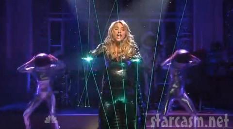 Ke$ha performs Tik Tok  with lasers on SNL