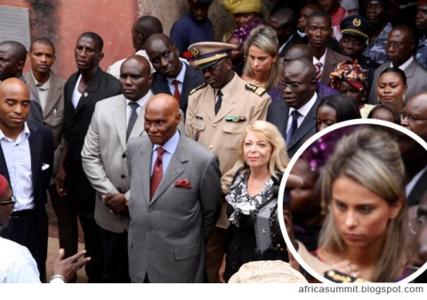 Tiki Barber and his mistress Traci Lynn Johnson during a Travl Channel film shoot in Senegal