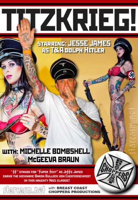 "Jesse James as T&Adolph Hitler in ""Titzkrieg!"""