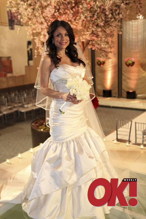 Bethenny Frankel in her wedding dress