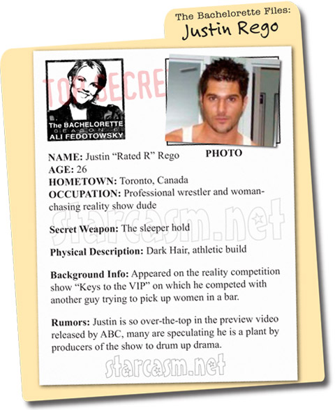 """Justin """"Rated R"""" Rego - the Bachelorette File"""