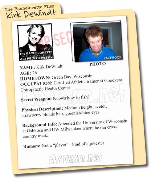 The Bachelorette Files: Kirk DeWindt