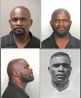 All 4 Lawrence Taylor mug shots from 1996 to 2010